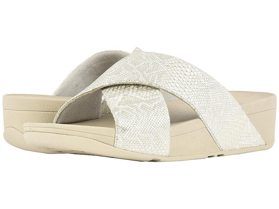 FitFlop Lulu Python Print Slide Sandals (Urban White) Women