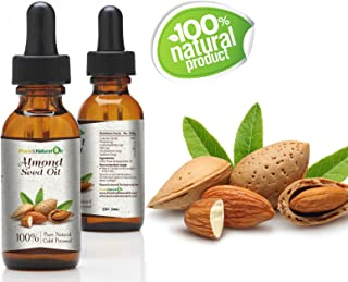 Pure And Natural Essential Oil 100% Pure ALMONDS Cold Pressed Seed Oil - Natural Undiluted Virgin Unscented/Certified Organic/Cold Pressed Carrier Oil (100ml | 3.38oz)
