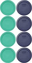 Pyrex 7202-PC 1 Cup (4) Green 1113803 & (4) Blue 1113805 Lid (8-Pack)