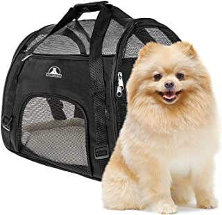 Pet Union Pet Carrier for Small Dogs, Cats, Puppies, Kittens, Pets, Collapsible, Travel Friendly, Cozy and Soft Dog Bed, Carry Your Pet with You Safely and Comfortably