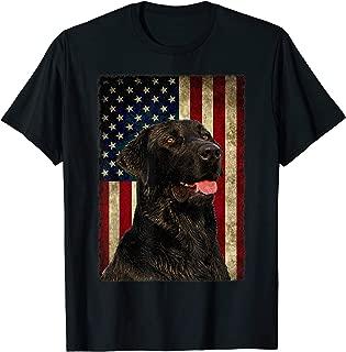 Black Labrador T Shirt Gift USA Flag Lab Owner Duck Hunter