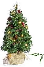 FIRSS-Deko K/ünstlicher Weihnachtsbaum LED Lichterkette Tannenbaum DIY Komplett Geschm/ückt Dekoriert Dekoration Wohnaccessoires Mini Weihnachtsdeko Christbaumschmuck 15cm//20cm//25cm//30cm Gr/ün, 15cm