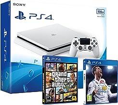 PS4 Slim 500Gb Blanca Playstation 4 Consola - Pack 2 Juegos