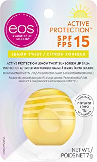 eos Active Protection Lemon Twist Lip Balm Spf 15, 7g