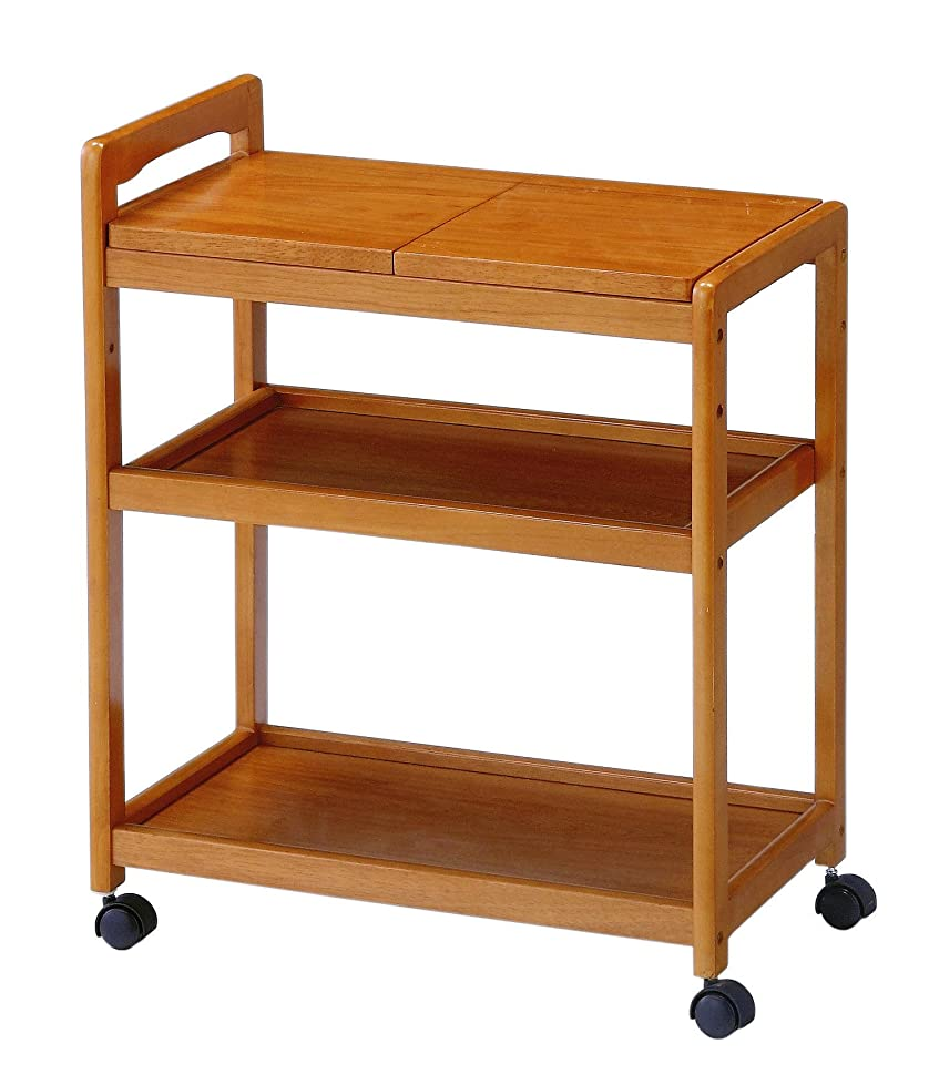 後継落胆した柔らかい足koeki 木製キッチンワゴン キャスター付き ブラウン色 KWB590BR