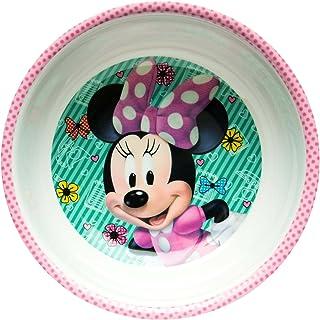 Zak Designs MMND-0361-B Disney Minnie Bowtique Mel tazón con borde, 15 oz, multicolor