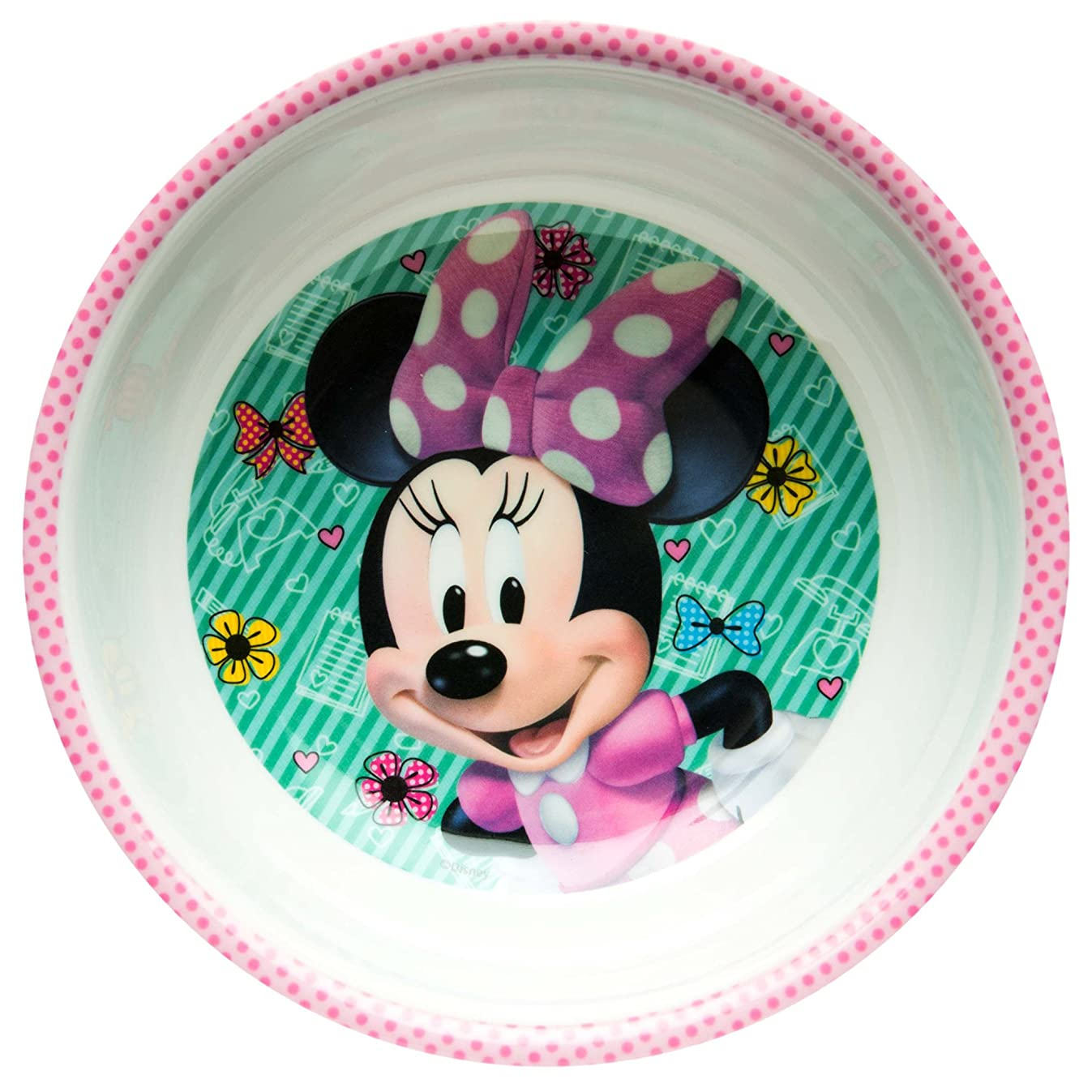 Zak Designs MMND-0361-B Disney Minnie Bowtique Mel Bowl W-Rim, 15 oz, Multicolor