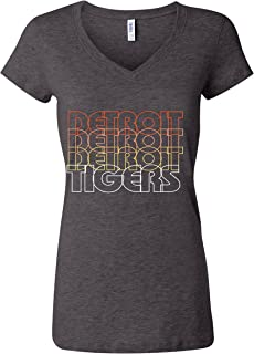 Tiger Detroit Retro 6005 Women's Premium V-Neck T-Shirt