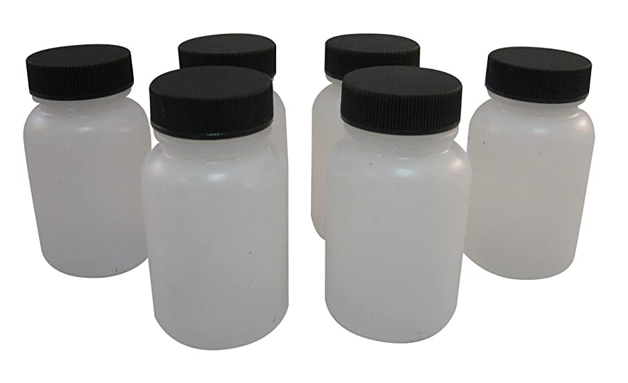 Badger Air-Brush Co. 51-0054B 3-Ounce Plastic Jar and Cover, Box of 6