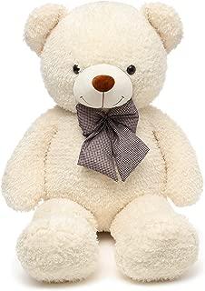 DOLDOA Big Teddy Bear Stuffed Animals Plush Toy for Girlfriend Children (47 inch, White)