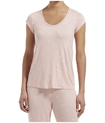 HUE Join The Dots Short Sleeve Sleep Tee (Calming Rose) Women