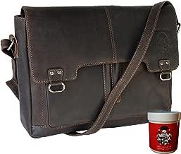 BARON de MALTZAHN Bolsa de hombro Bolso de bandolera BALBOA de cuero marrón
