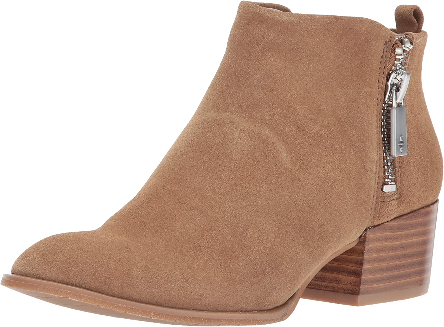 Kenneth Cole New York Womens Addy Western Bootie Double Zip Low Heel Suede Ankle Bootie