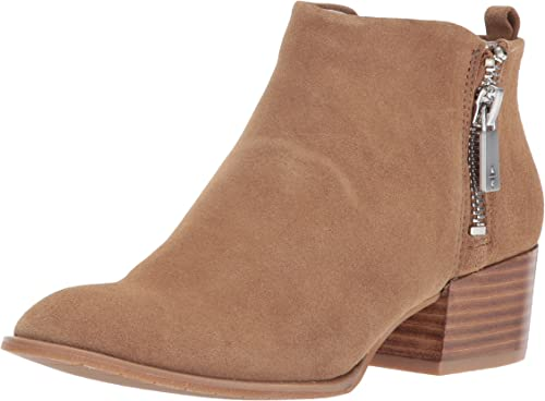 Kenneth Cole New New York Wohommes Addy Western Double Zip Faible Heel Suede Ankle démarrageie, Almond, 6.5 M US  en soldes