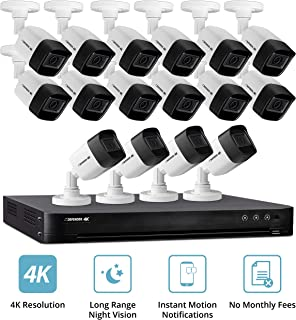 Defender Ultra HD 4K (8MP) DIY Wired Security System with 16 Weather Resistant, Night Vision Cameras, 4TB Hard Drive and Remote Mobile Viewing