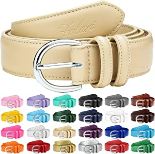 ad746d99fd18 Falari Women Genuine Leather Belt Fashion Dress Belt With Single Prong  Buckle 6028-24 Colors