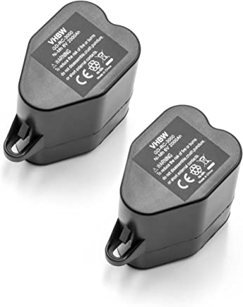 vhbw 2x Batteria Ni-MH 2000mAh (6V) per Robot Aspirapolvere Kärcher RoboCleaner RC 4.000, RC3000, RC4000 sostituisce 2.891-029.0.