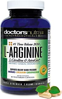 L-Arginine L-Citrulline Extra Strength Over 2,650 Milligrams by Doctors Nutra Nutraceuticals - Nitric Oxide Booster - Plus...