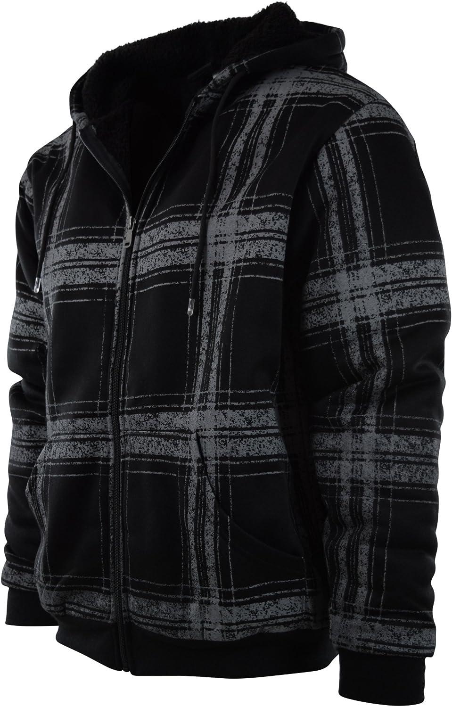 Mens Full Zipper Fleece Basic Hoodie with Lining