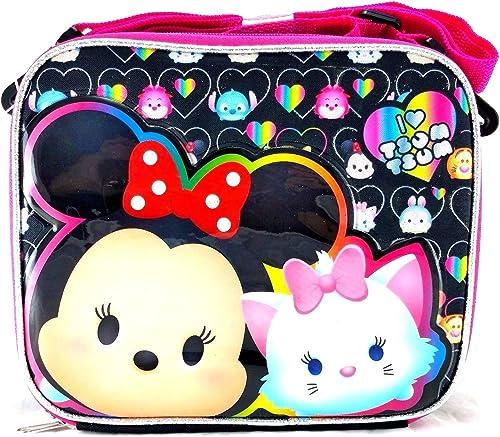 Disney Tsum TsumSchool Lunch Bag Insulated Snack Cooler Box schwarz Rosa by Disney