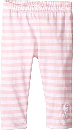 Striped Leggings w/ Floral Logo Detail (Infant)