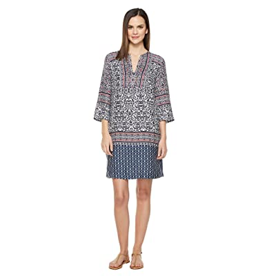 Tommy Bahama Kamari Damask Tunic Short Dress (Ocean Deep) Women