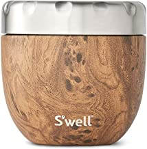 S'well Eats 2-IN-1 Nesting Food Bowls, 21.5oz, Teakwood