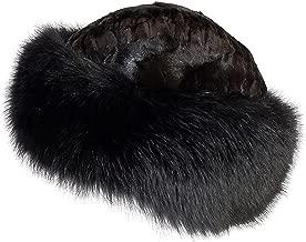Overland Sheepskin Co Sheared Mink Fur Cossack Hat with Fox Fur Trim