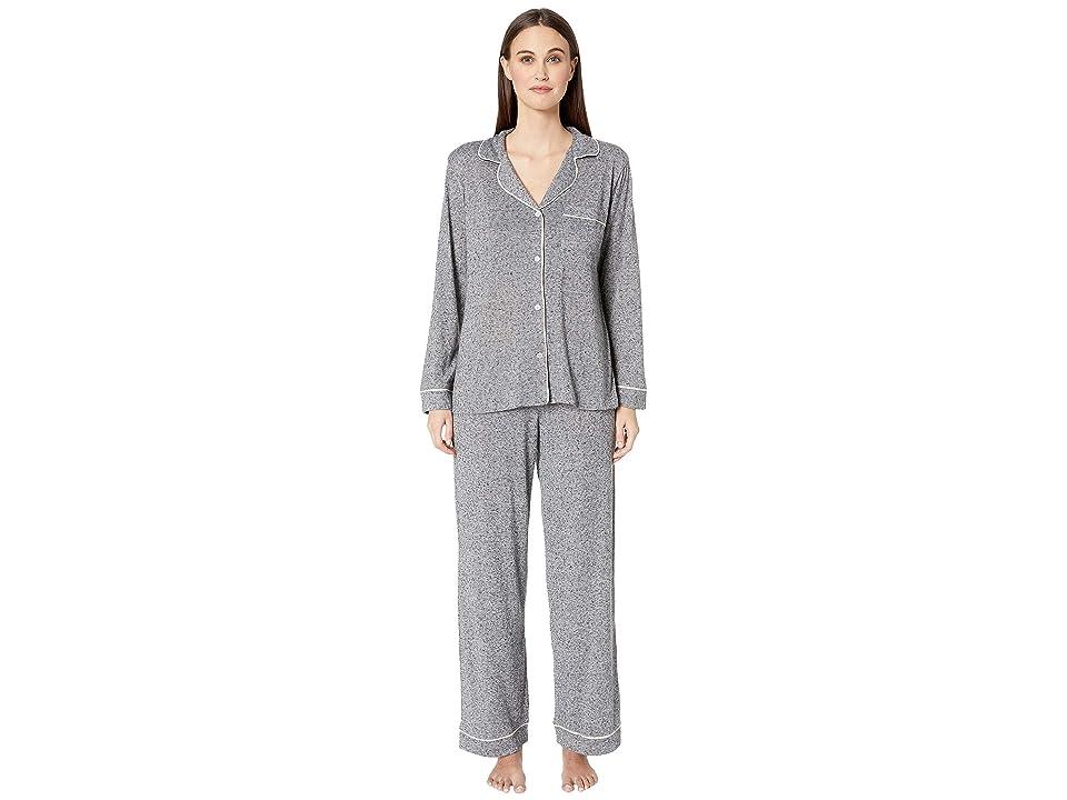Eberjey Bobby The Long Pajama Set (Heathered Grey) Women