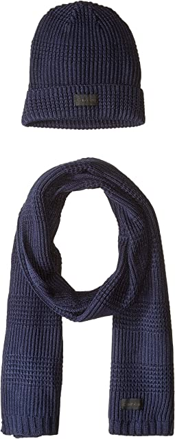 Thermal Stitch Hat and Scarf Set
