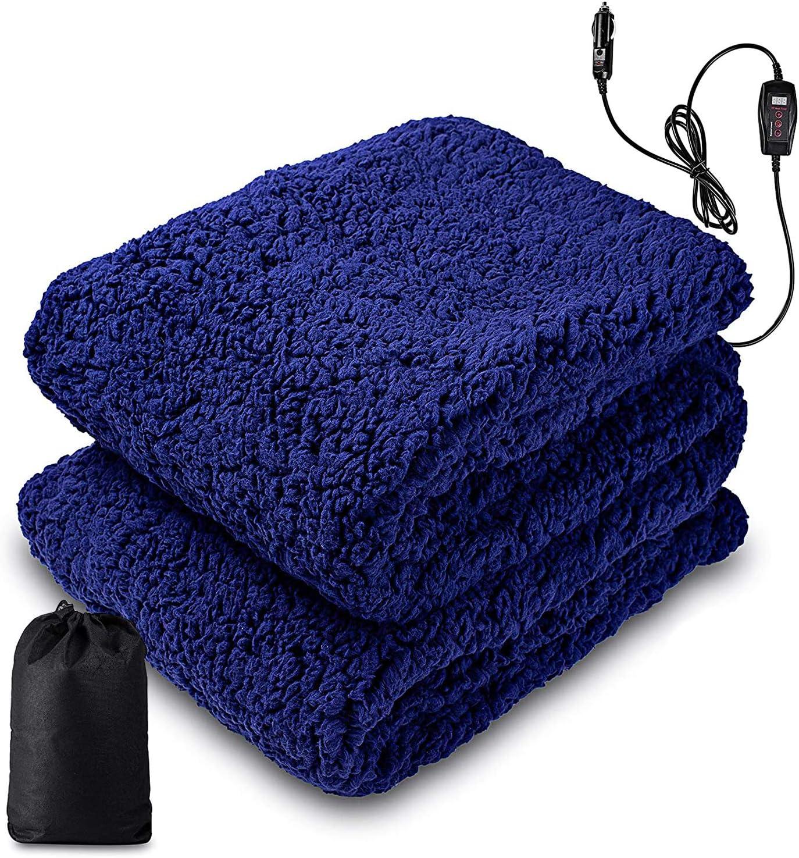 Zone Tech Sherpa Fleece Travel Blanket