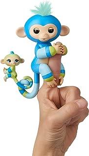 WowWee Fingerlings Baby Monkey & Mini BFFs - Billie & Aiden (Blue-Green) 3541
