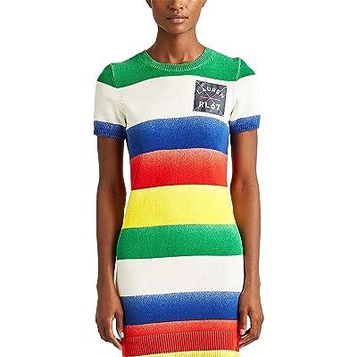 LAUREN Ralph Lauren Striped Cotton-Blend Sweater Dress
