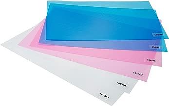 Amazon Brand - Solimo PVC Fridge Multipurpose Mat, Set of 6, Pink, Blue and White