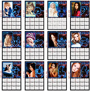 Calendario oroscopo con segni zodiacali 2019 personalizzabile con foto