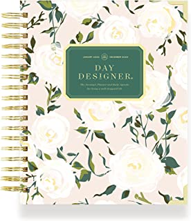 """$64 » Day Designer 2022 Daily Monthly Planner, January - December, Durable Coming Up Roses Hardcovers, Spiral Bound, 9"""" x 9.75"""" ..."""