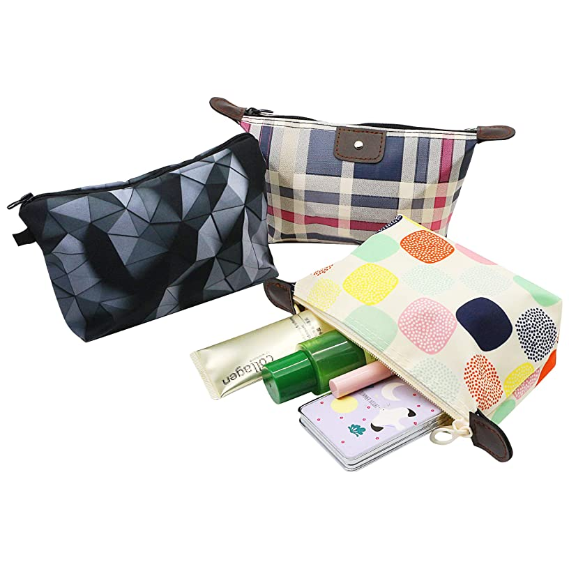 Roomy Cosmetic Bag,YAODHAOD 3 piece Set Women's Travel Cosmetic Bags Small Makeup Clutch Pouch Cosmetic and Toiletries Organizer Bag