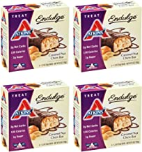 Atkins Endulge Treat, Caramel Nut Chew Bar, 1.2 Ounce, 5 Count (Pack of 4)