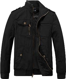 Men's Military Cotton Lightweight Casual Stand Collar Windbreaker Jacket