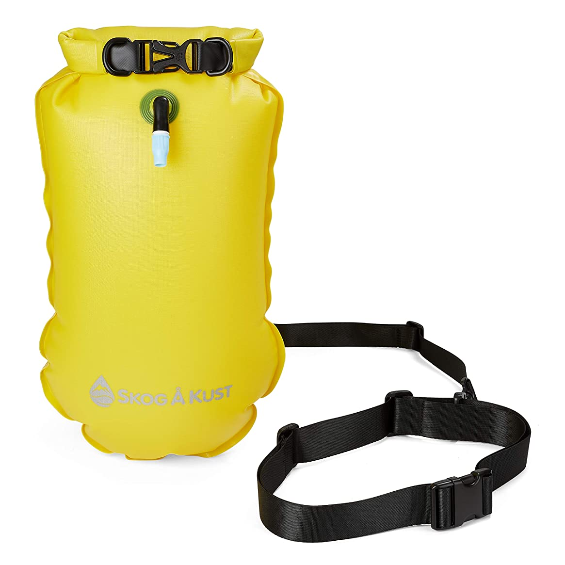 SwimSak | 2-in-1 Inflatable Floating Swim Buoy and Waterproof Dry Bag | Safety Device for Open Water or Long Distance Swimmers and Triathletes | 10L Yellow by Skog ? Kust
