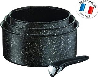 Tefal l6719012St Ingenio 5Authentic Non-Stick inducción–Juego de 3cacerolas y 1Mango Aluminio Negro 28.5x 22.5x 11.5cm