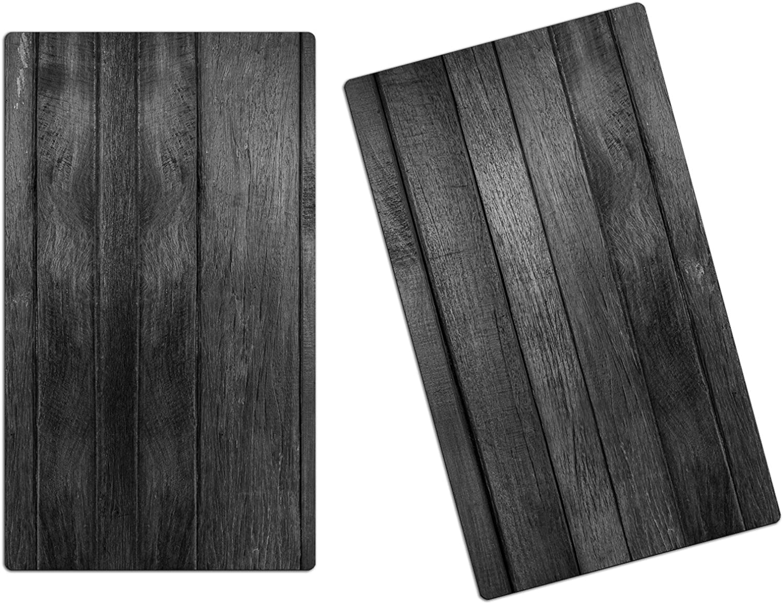 Herdabdeckplatten, Schneidebrett aus aus aus Glas, Holz Optik Grau HA519981049 Variante 2er Set (2 Panels) B074D7F8GW 71495d