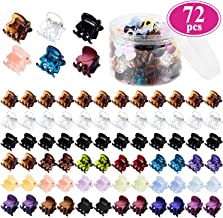 Mini Hair Claw Clips for Girls and Women, Funtopia 72 Pcs Small Hair Clips Pins Clamps Non Slip Tiny Plastic Jaw Clips (Assorted Colors)