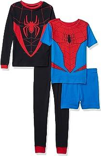Marvel Captain America Boys Long John Pajama Set In Organic Cotton Size 3
