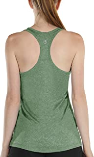 Workout Tank Tops with Built in Bra - Women's Racerback Athletic Yoga Tops, Running Exercise Gym Shirts