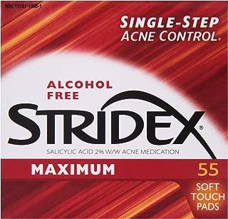 Stridex Pads, Maximum Strength, 55 ct