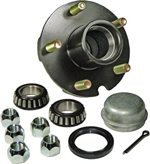 Rigid Hitch Trailer Hub Kit (BT-150-22-A) 5 Bolt on 4-1/2 Inch Circle - 1-1/16 inch I.D. Bearings