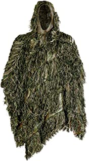 Auscamotek Ghillie Suit Poncho for Hunting Bird Watch Gilly Camouflage Cloak Green and Desert