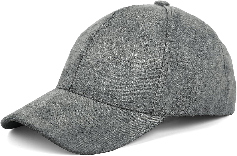 JOOWEN Unisex Faux Suede Baseball Cap Adjustable Plain Dad Hat for Women Men