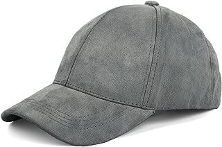 Unisex Faux Suede Baseball Cap Adjustable Plain Dad Hat for Women Men